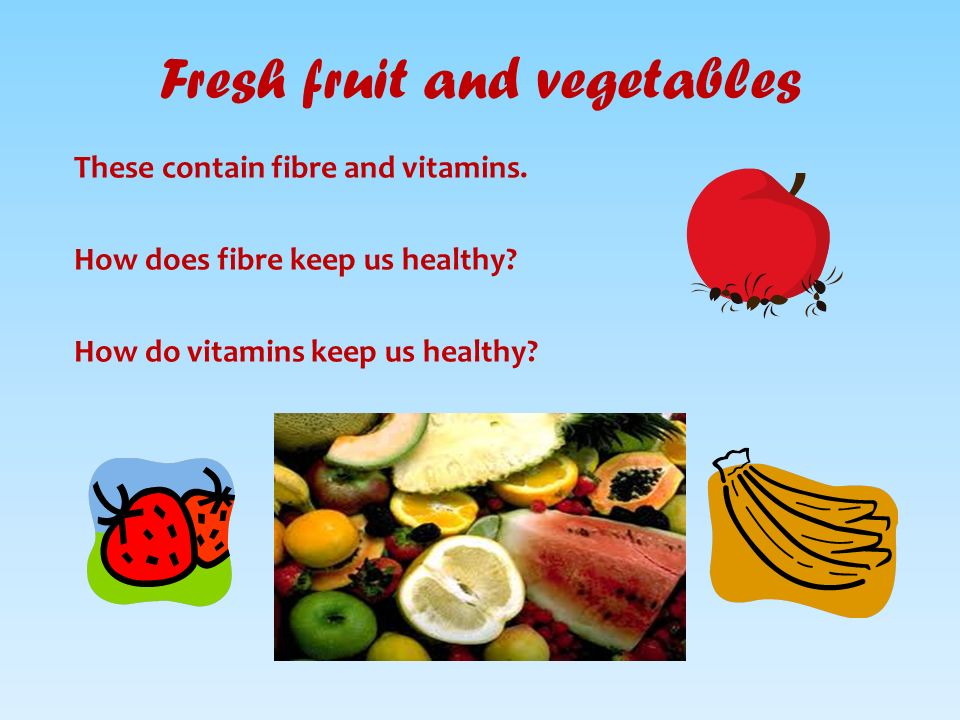 4 Fresh Fruit And Vegetables