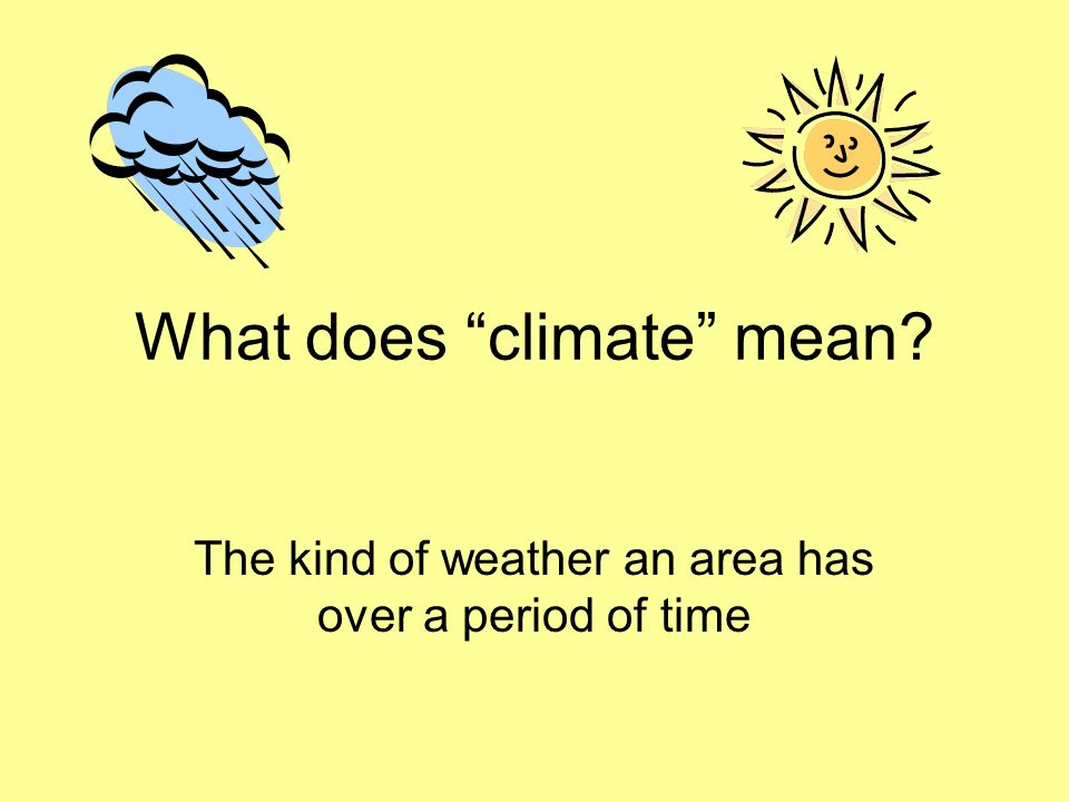 What does climate mean