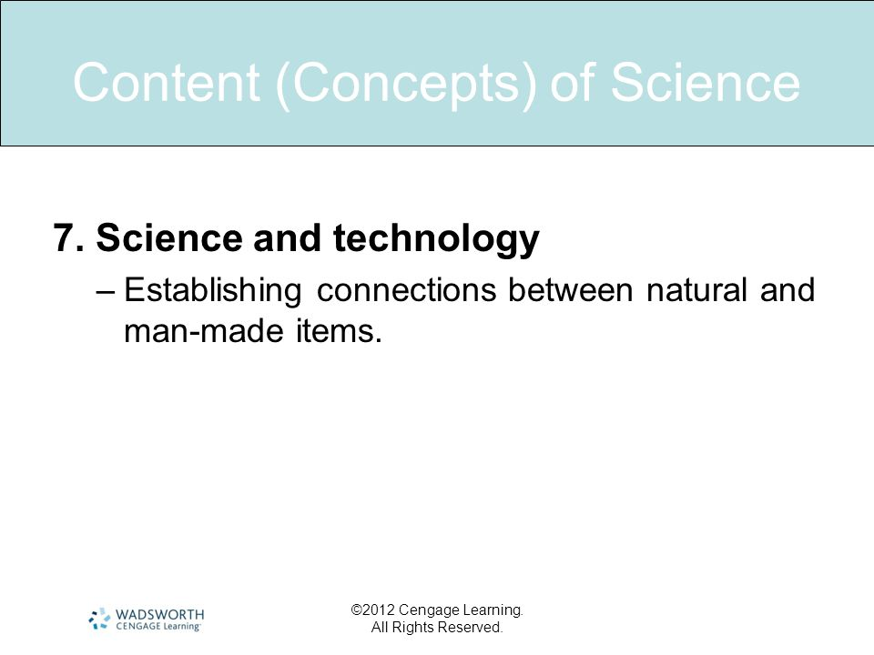 Content Concepts Of Science