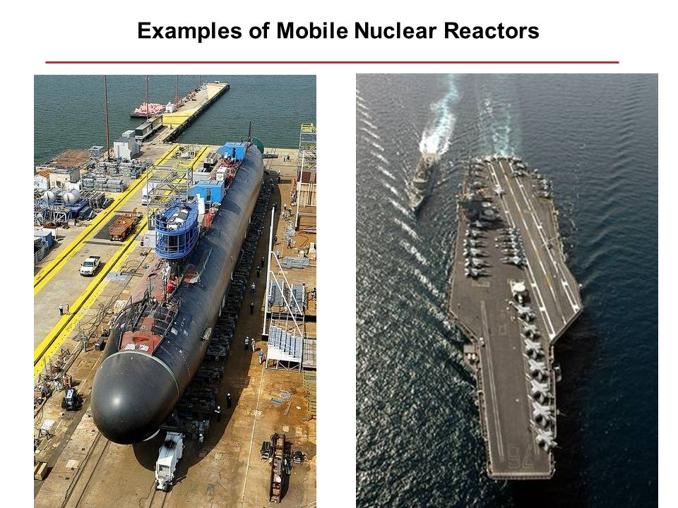 Examples of Mobile Nuclear Reactors