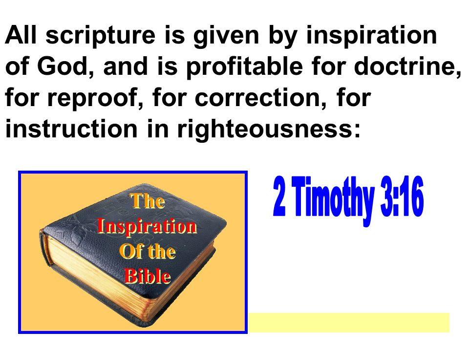 The Inspiration Of The Bible Ppt Video Online Download