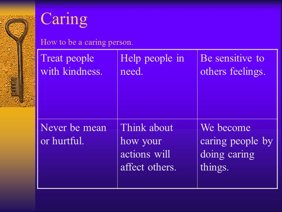 Caring How to be a caring person.