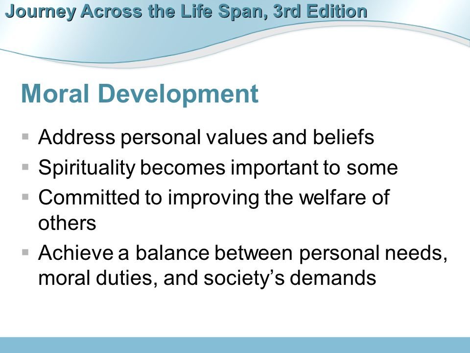 moral development in middle adulthood