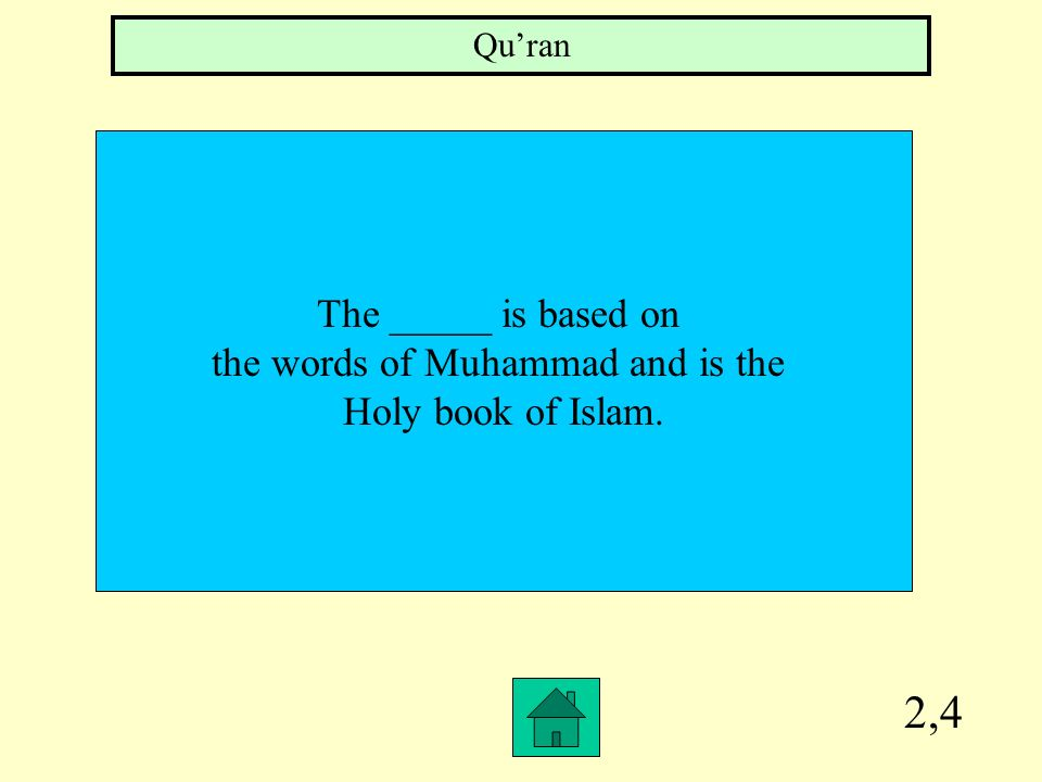 the words of Muhammad and is the