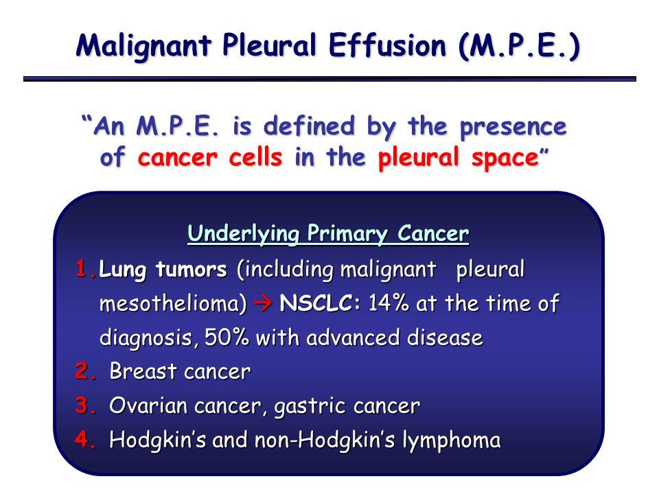 Malignant Pleural Effusion M P E Ppt Video Online Download