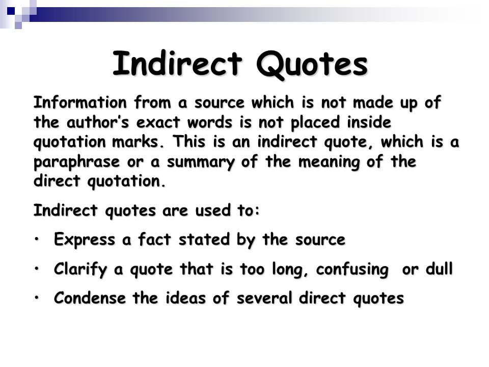 what is a direct quote