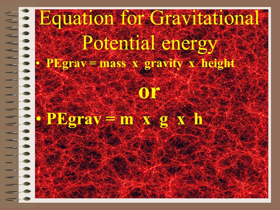 Equation for Gravitational Potential energy