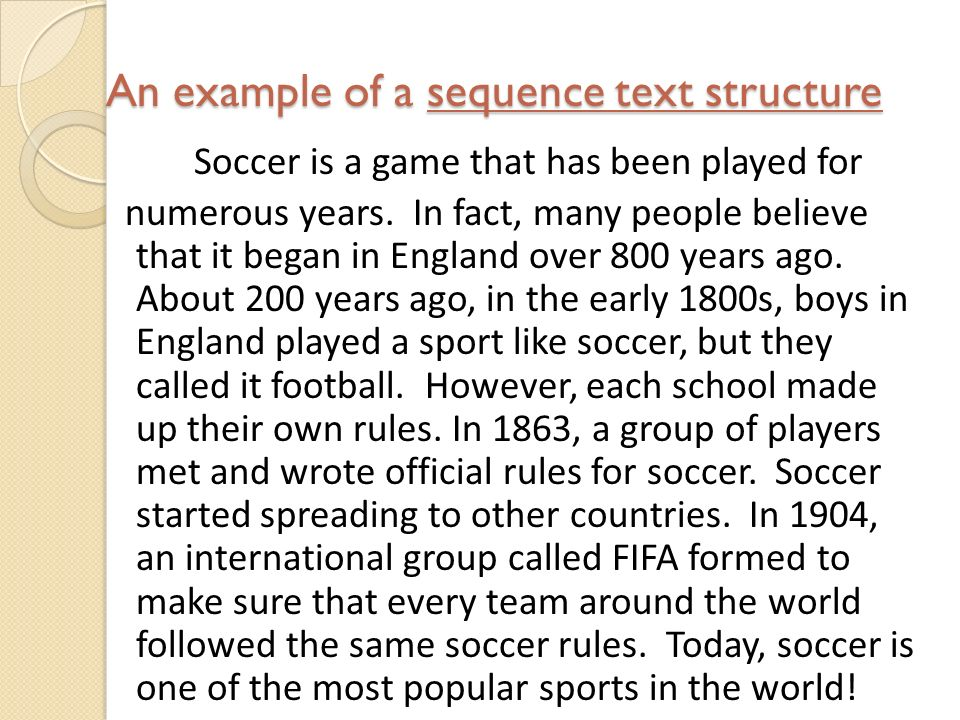 soccer paragraph example