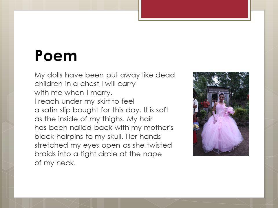 quinceanera poem figurative language