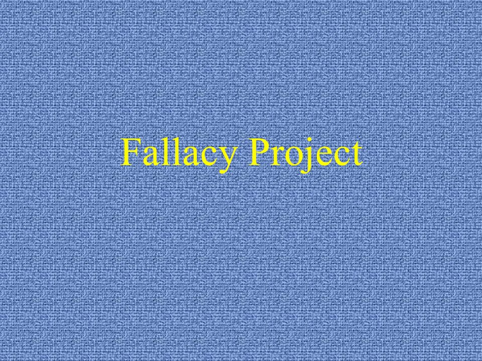Fallacy Project