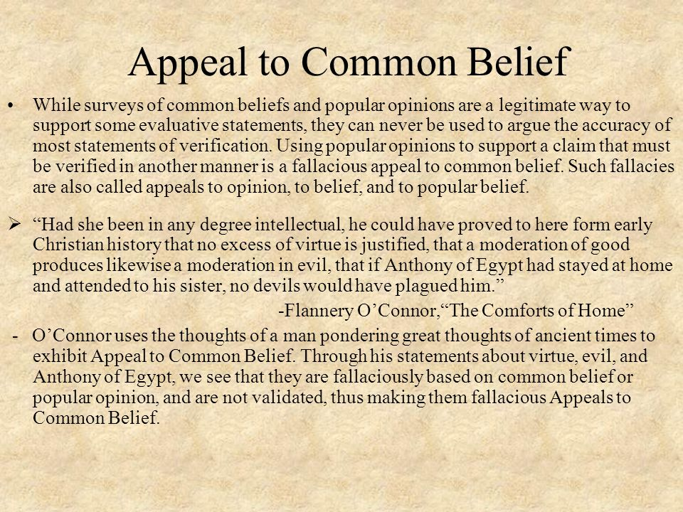 Appeal to Common Belief
