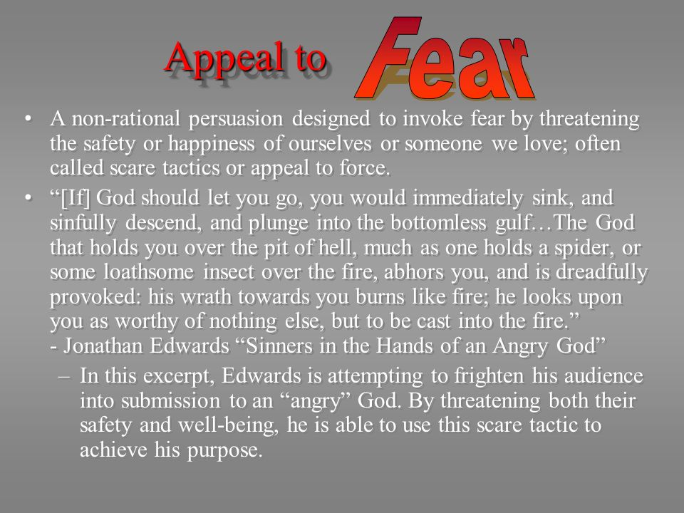 Appeal to Fear.