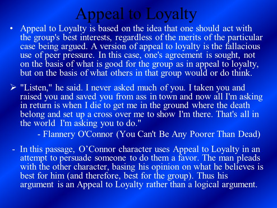 Appeal to Loyalty