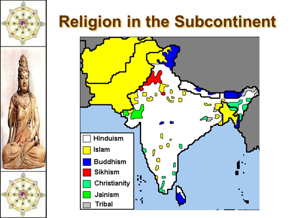 Political Map: India. 3 Religion In The Subcontinent