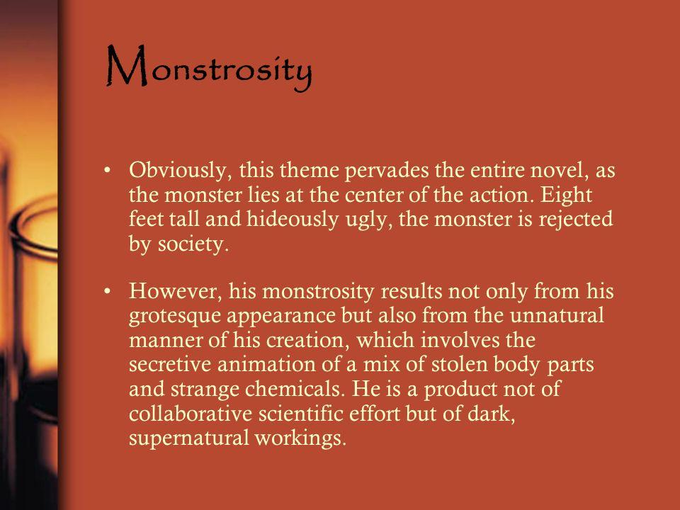 theme of monstrosity in frankenstein