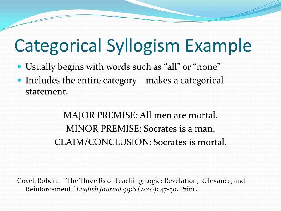 Special types of syllogism (logic slide 11).