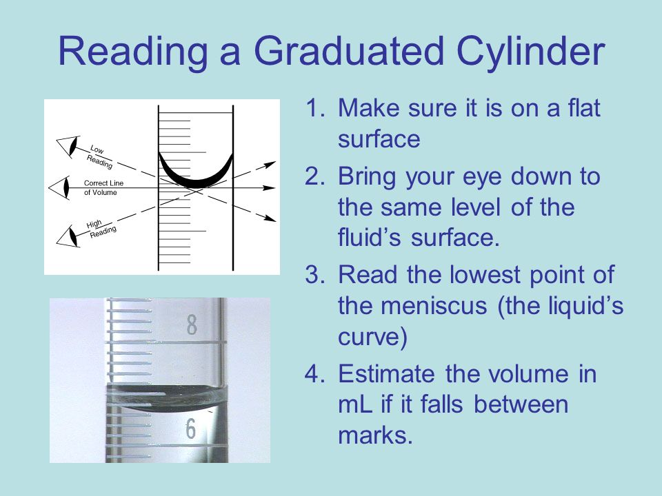 Reading a Graduated Cylinder