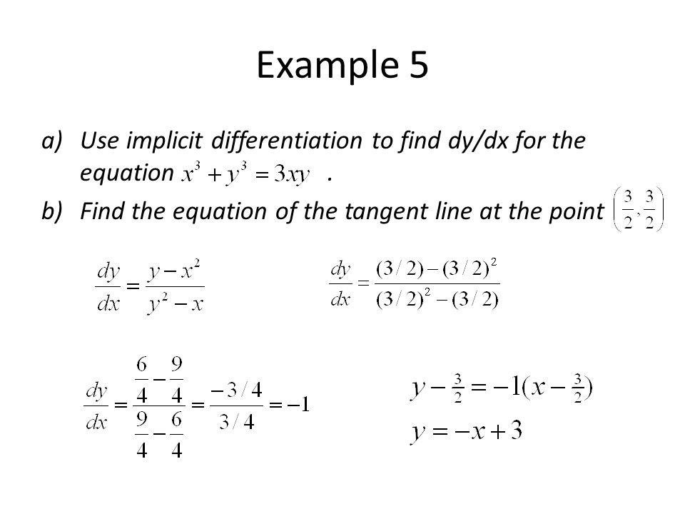 Implicit Differentiation Ppt Video Online Download