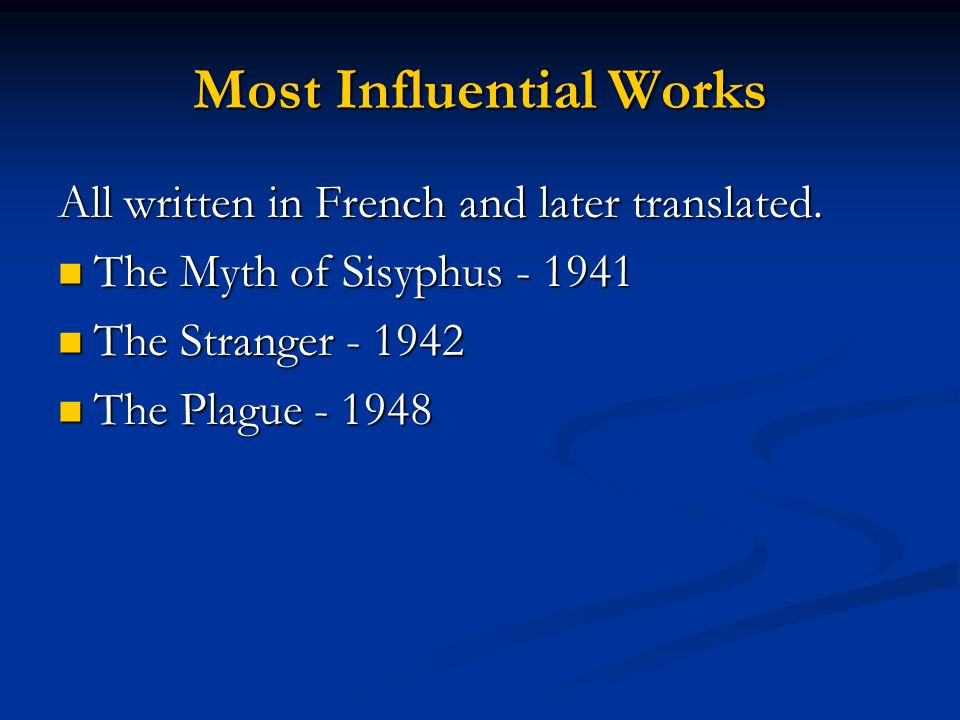 Most Influential Works