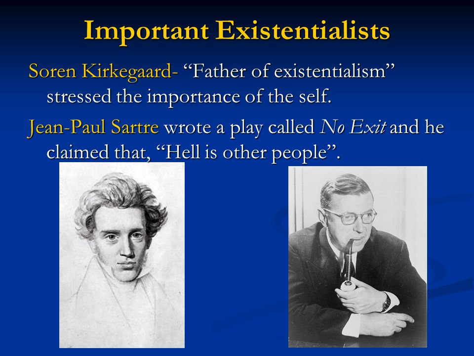 Important Existentialists