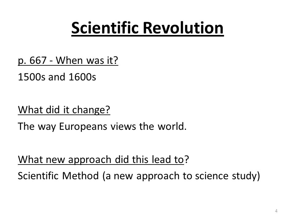 how did the scientific revolution change peoples worldview