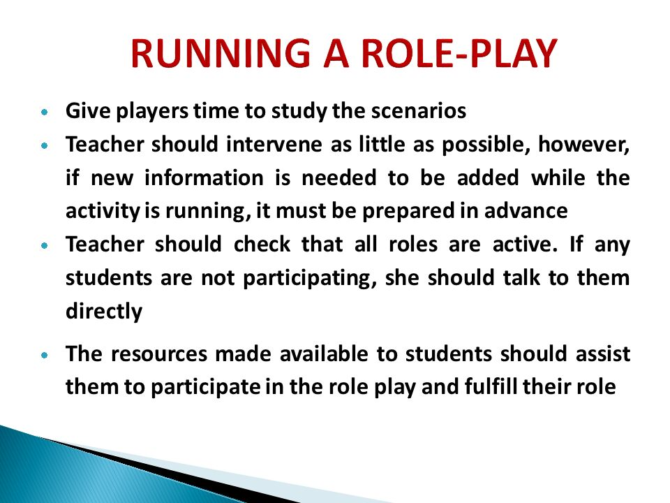 ROLE-PLAY AS A TEACHING METHOD - ppt video online download