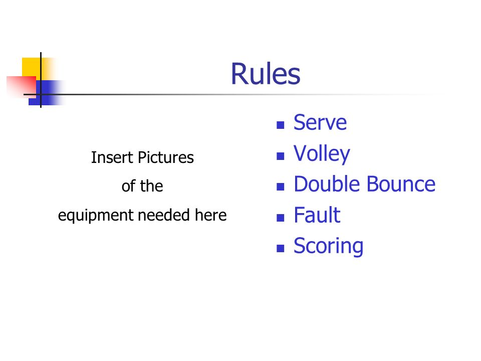 Rules Serve Volley Double Bounce Fault Scoring Insert Pictures of the