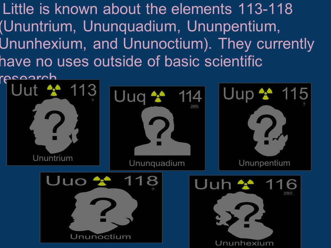 The periodic table of elements becka and jess style ppt video little is known about the elements ununtrium ununquadium ununpentium ununhexium and urtaz Image collections