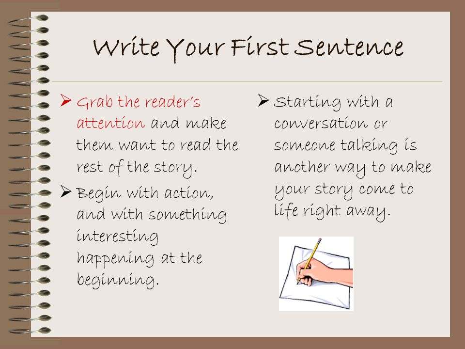 Write Your First Sentence