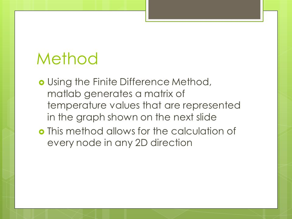 2D Transient Conduction Calculator Using Matlab - ppt video online
