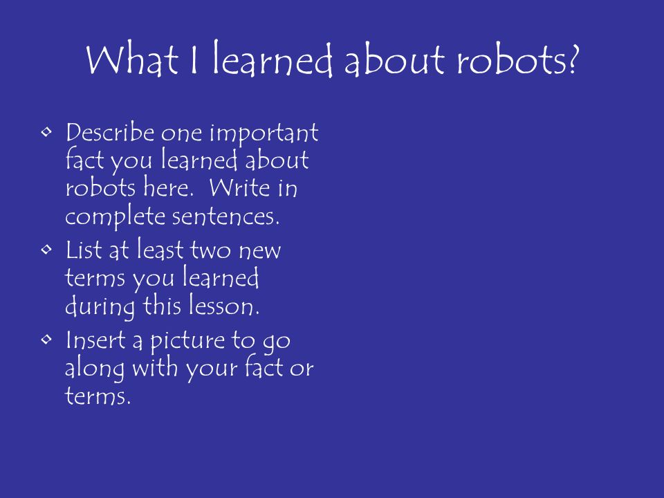 What I learned about robots