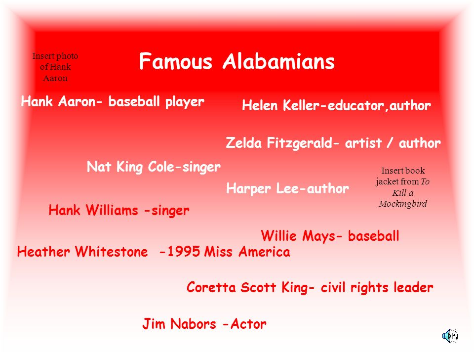 Famous Alabamians Hank Aaron- baseball player