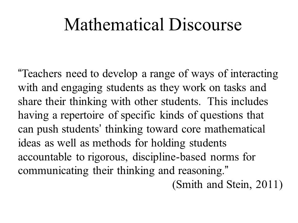 Mathematical Discourse
