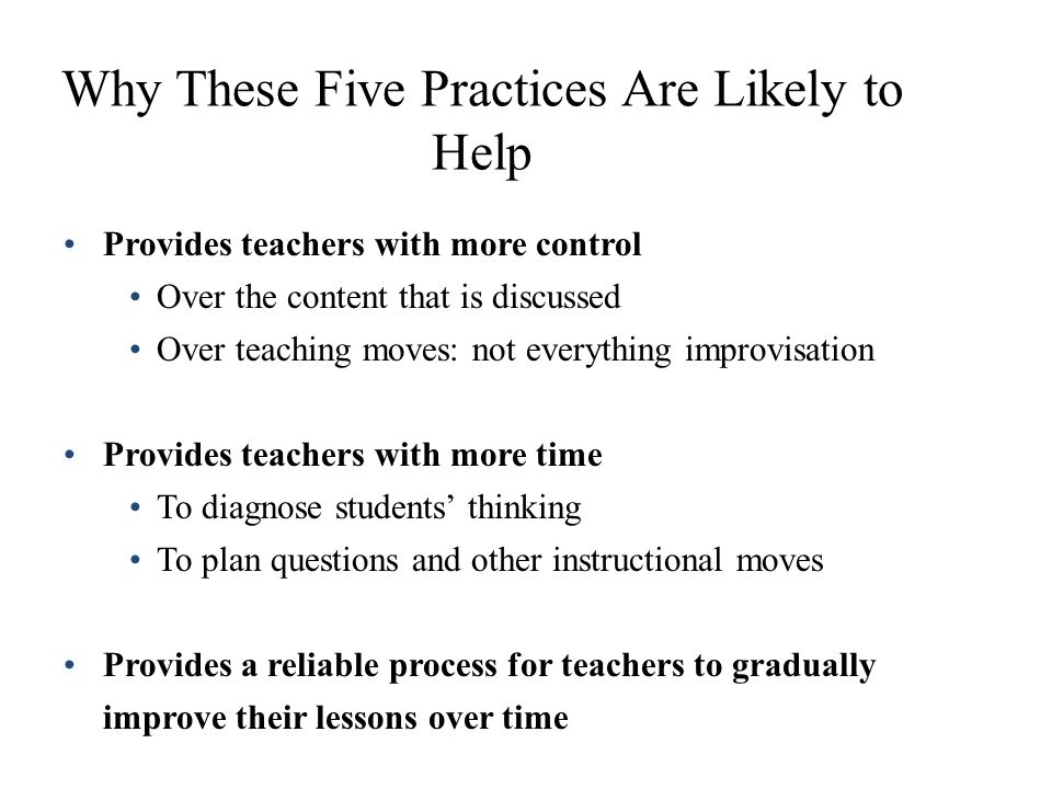 Why These Five Practices Are Likely to Help