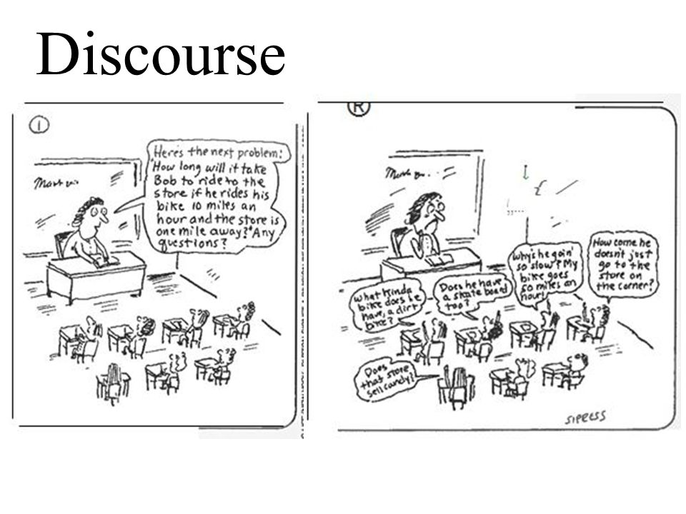 Discourse Show slide.