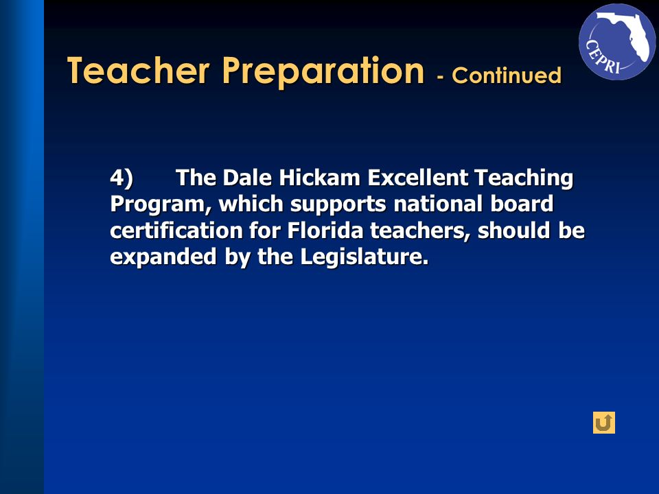 Teacher Preparation - Continued