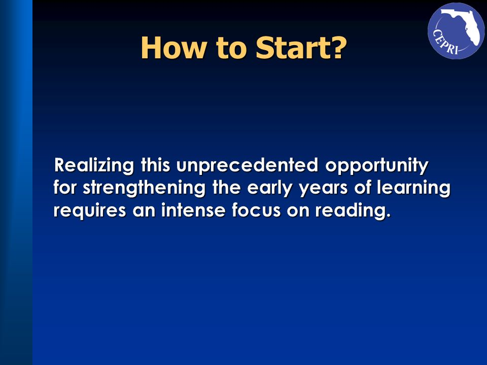 How to Start Realizing this unprecedented opportunity