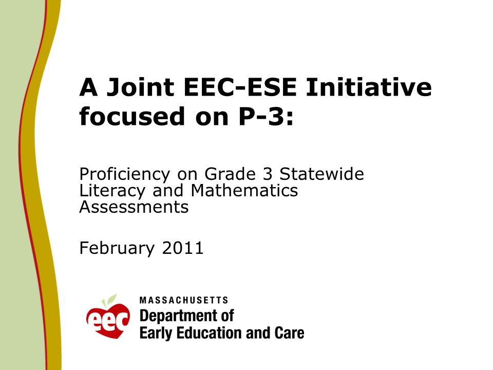 A Joint EEC-ESE Initiative focused on P-3: