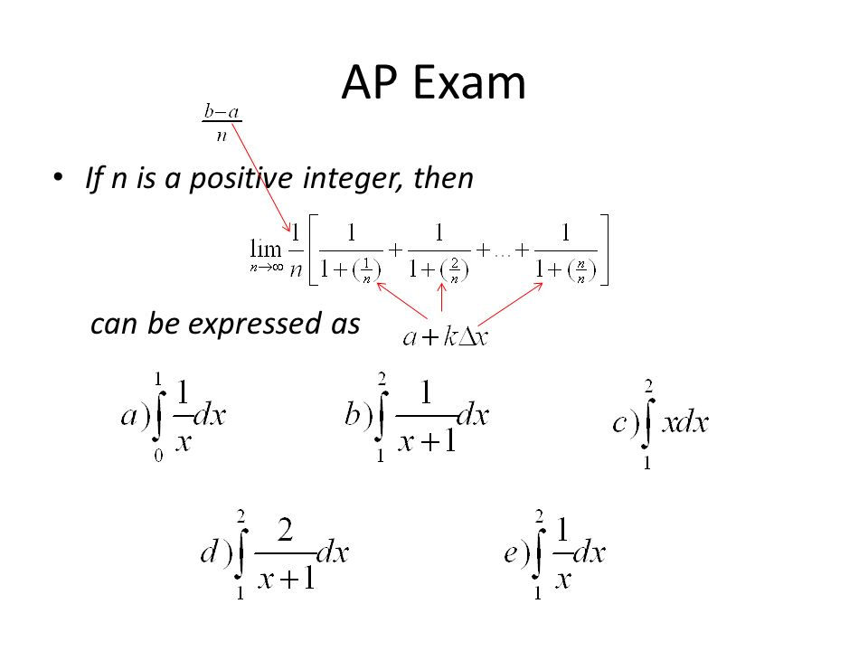 AP Exam If n is a positive integer, then can be expressed as