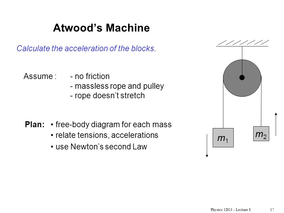 Newtons Laws Cont Blocks Ramps Pulleys And Other Problems