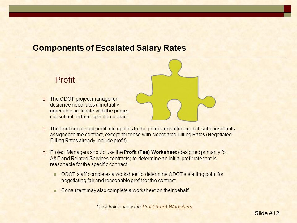 Click link to view the Profit (Fee) Worksheet