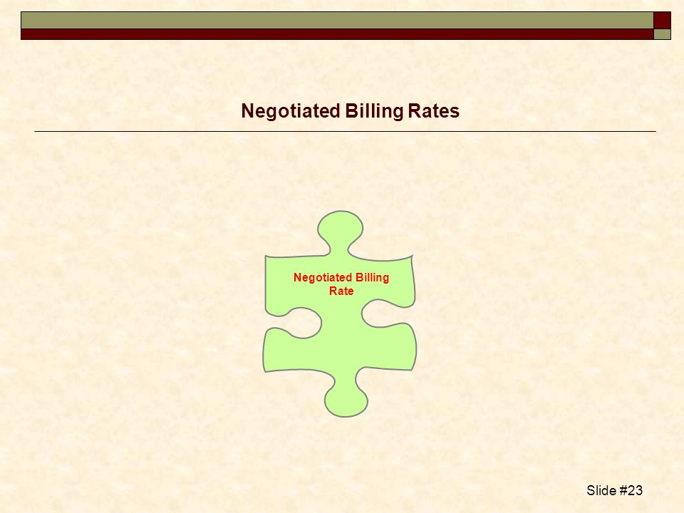 Negotiated Billing Rates
