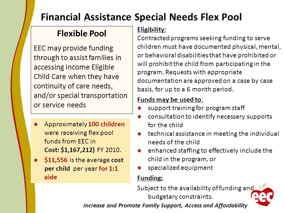 Financial Assistance Special Needs Flex Pool
