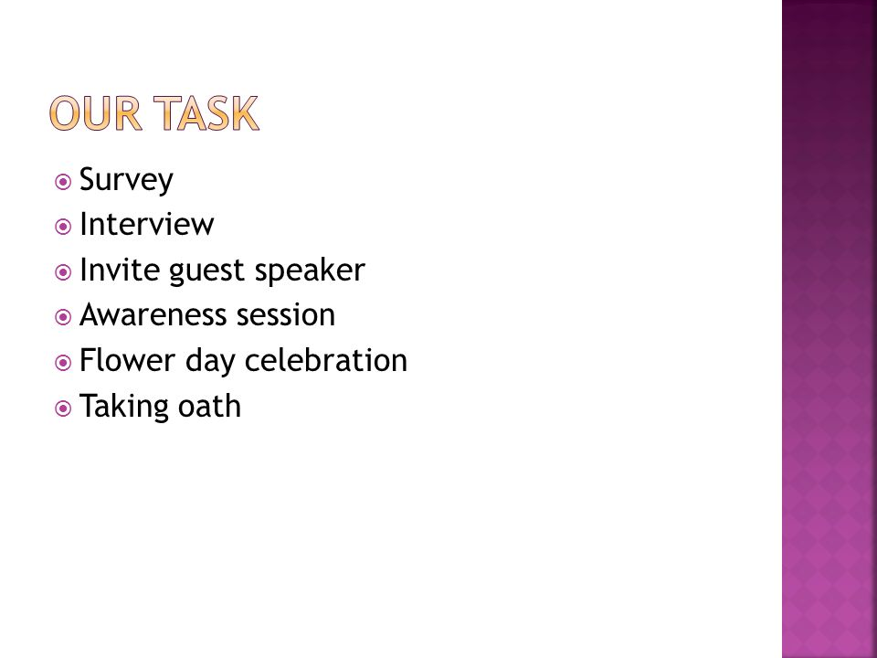 By class i taaleem foundation zhob ppt video online download our task survey interview invite guest speaker awareness session altavistaventures Image collections