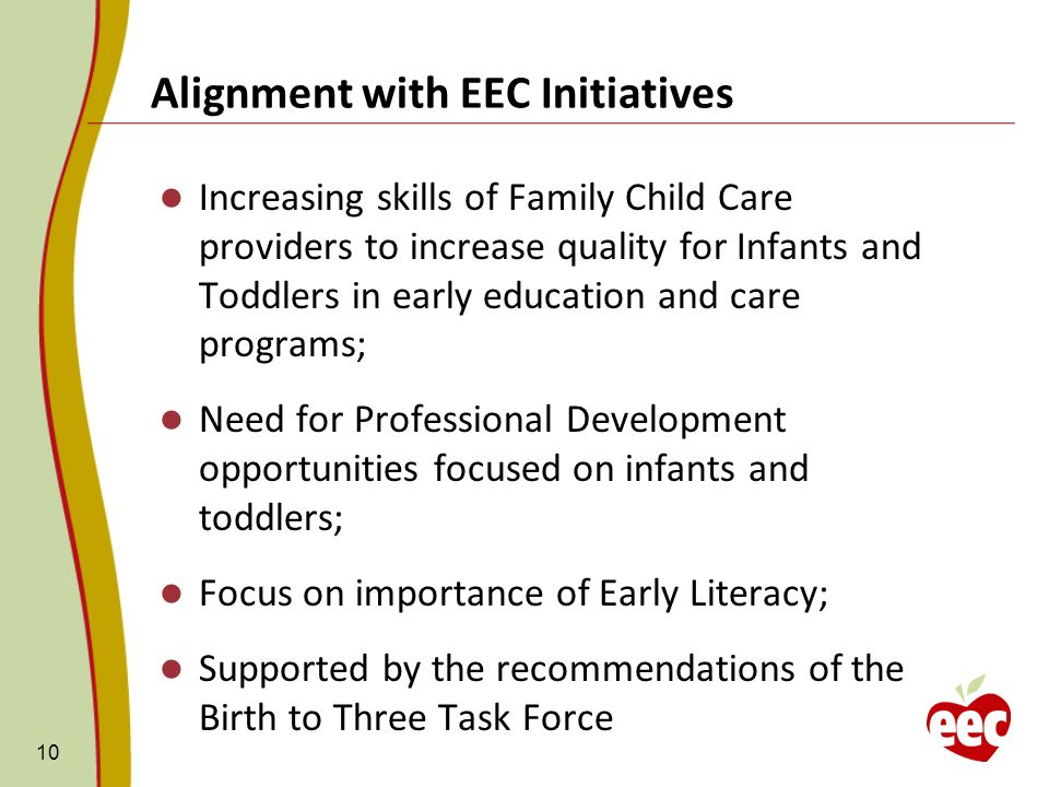 Alignment with EEC Initiatives