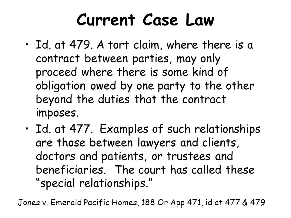 Current Case Law