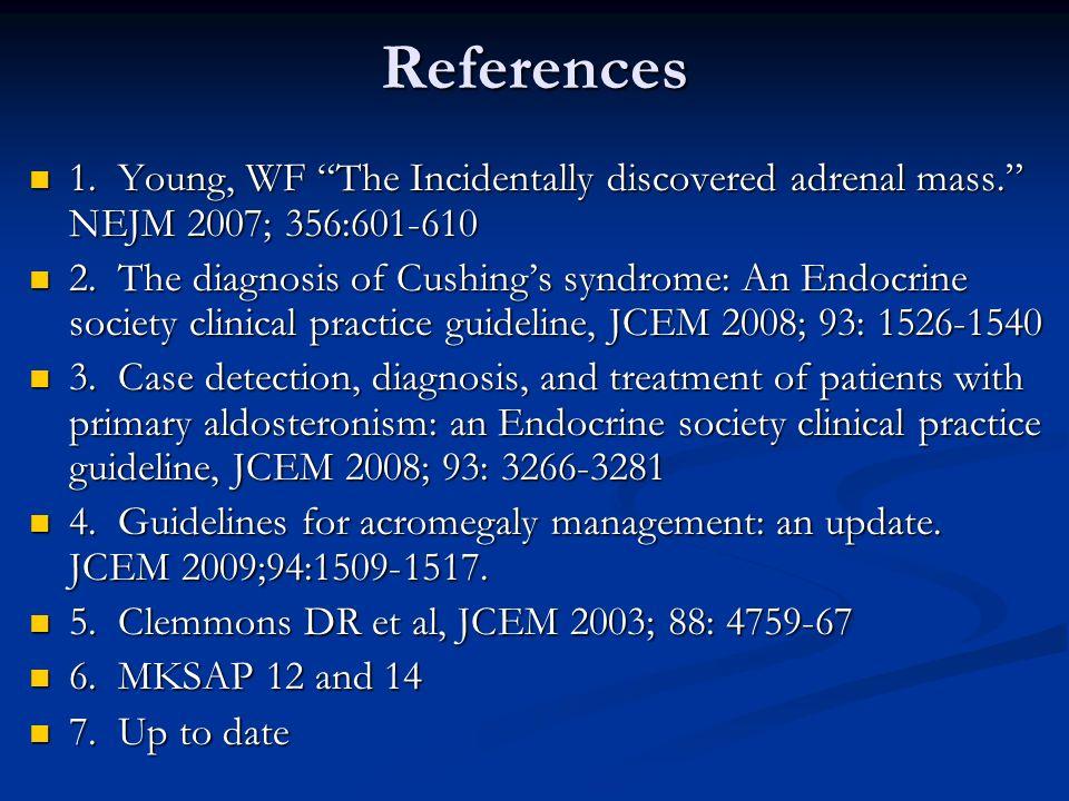 adrenal incidentaloma guidelines endocrine society