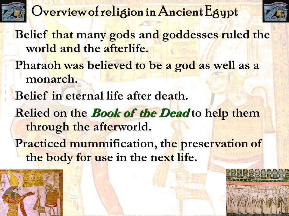 Overview of religion in Ancient Egypt