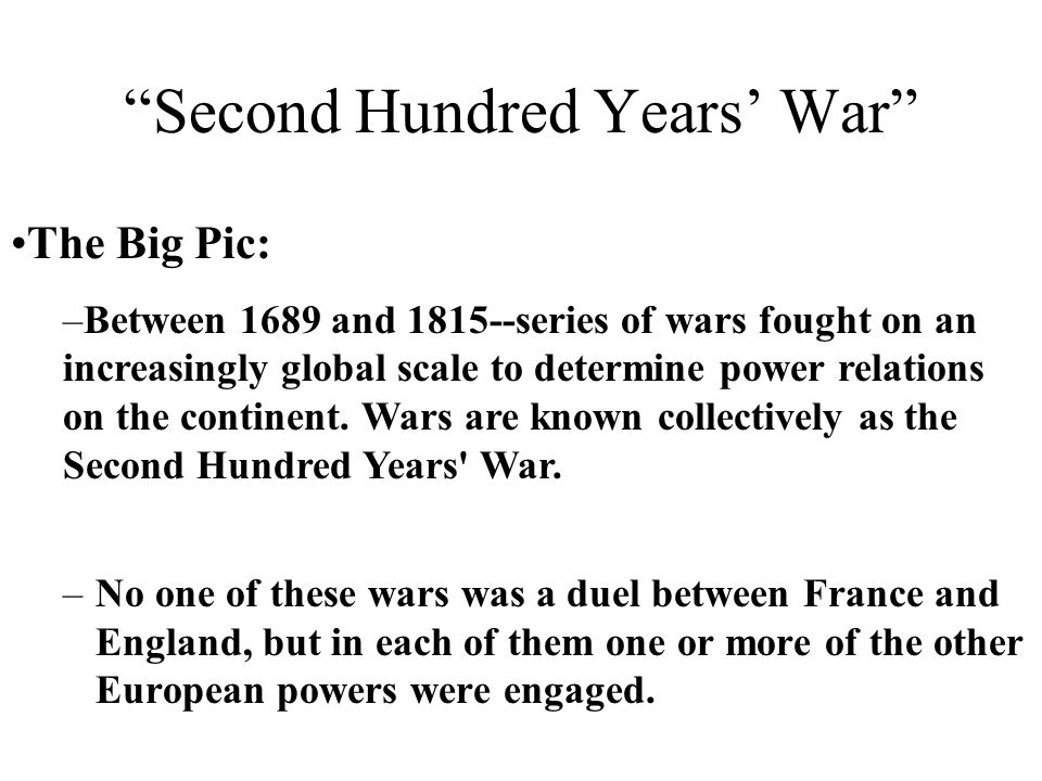 Second Hundred Years' War