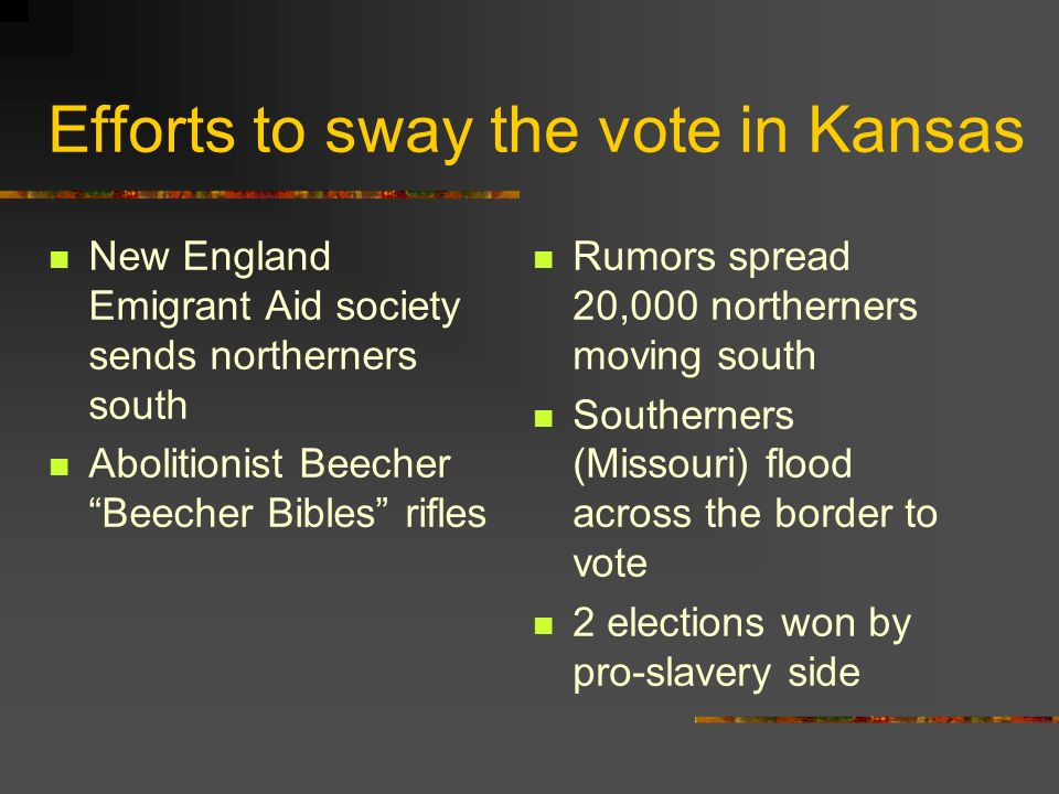 Efforts to sway the vote in Kansas